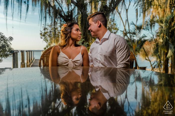 Linhares, Espírito Santo, Brazil Reflection Engagement Love Portrait Session