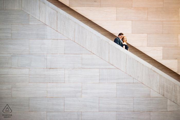 National Portrait Gallery, DC - Un portrait de couple sur l'escalator de la National Portrait Gallery
