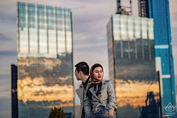 Apartment couple portraits in Manhattan - Engagement Photography in NYC