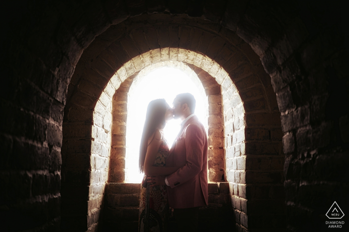 Great wall engagement session - Beijing, China portraits