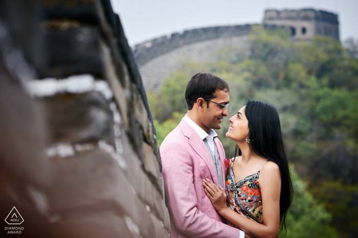 Beijing, China Great wall engagement shooting
