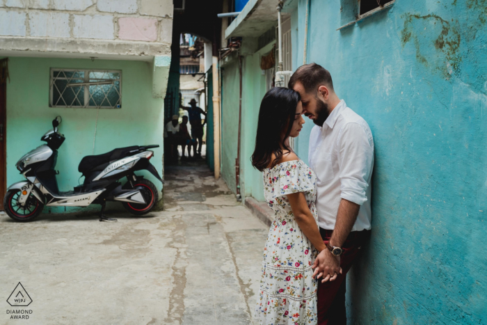 Cuba intimate engagement portrait session with a coule in love
