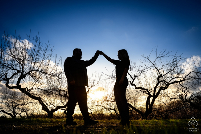 Giamarese Farm Couple Portraits - Dancing at Sunset