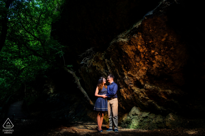 Budapest, Hungary Wedding Portrait Photography   Engagement photo session in Budapest in the woods