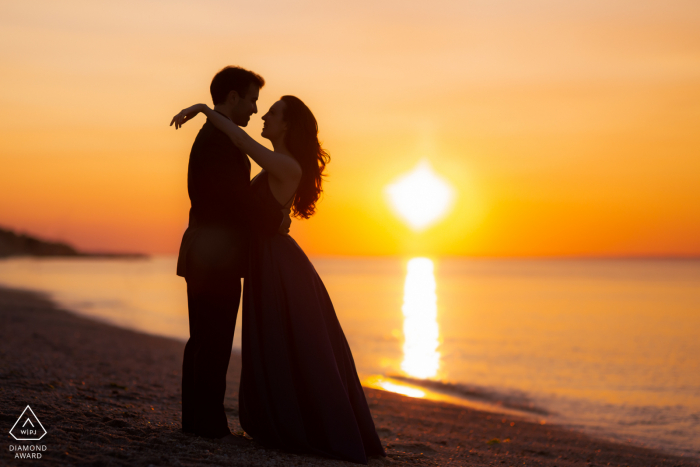 Sunken Meadow State Park Engagement session under sunset