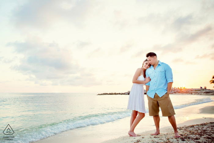 Key West Beach Portrait Shoot - Oceanside Romance in the Water and Sand