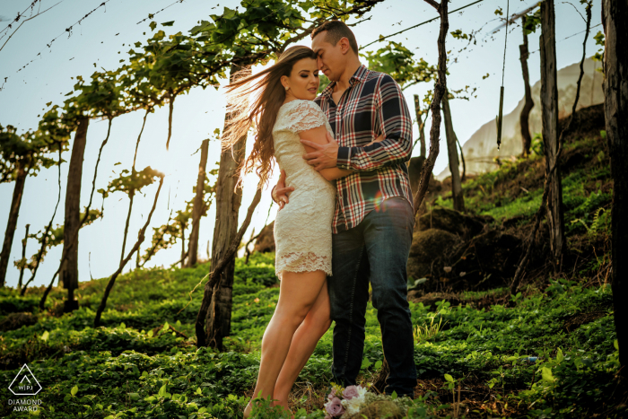 Pre Wedding Image in the Vinyard in Santa Teresa - ES - Brazil
