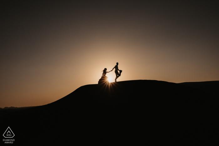 Fossil Rock, Dubai Desert - Dubai Desert Silhouette engagement image