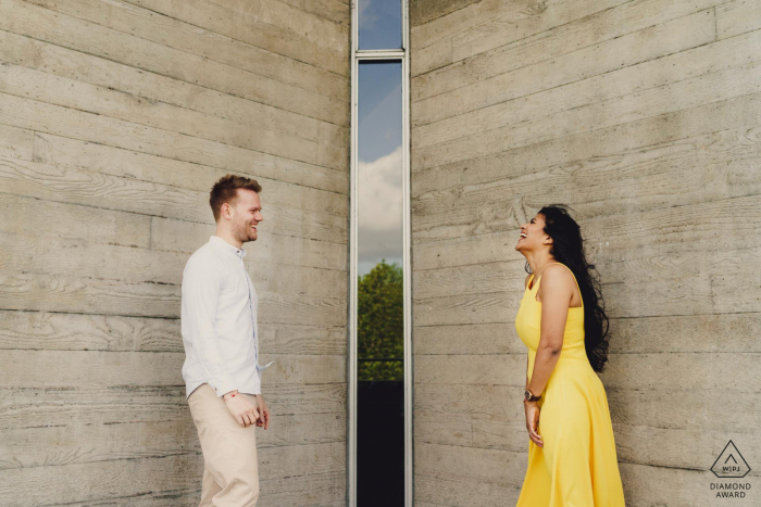 Engagement Photo Session at Southbank London - Creative engagement shoot in London