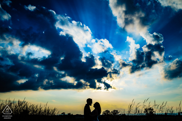 Engagement Photography | Gettysburg Battlefield Engagement Session Silhouette