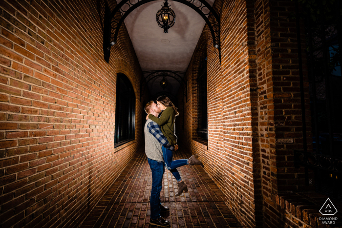 Engagement Photo Session at Downtown Lancaster PA - Alley Engagement Session