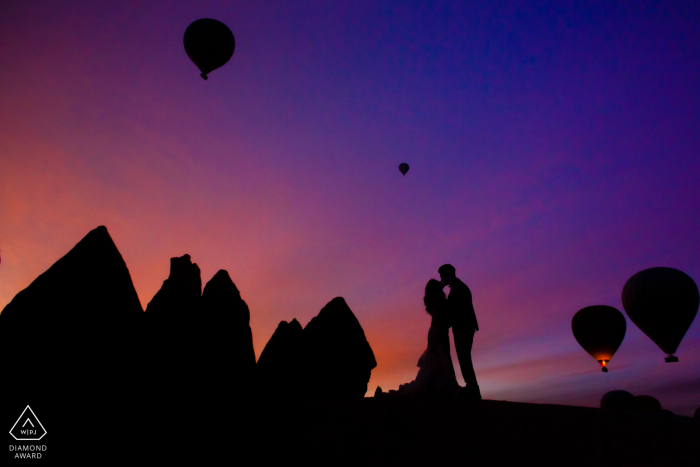 Engagement Picture Session at cappadocia hot air balloons launch site