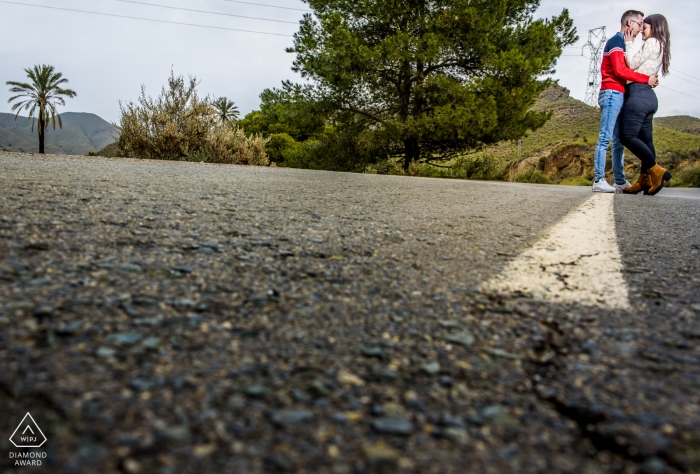 """Águilas - Spain Photographer: """"We did part of the session on this road that we really liked"""""""
