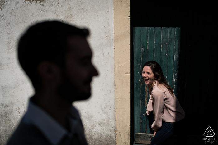 Ile d'Yeu, France couple portrait for engagement session