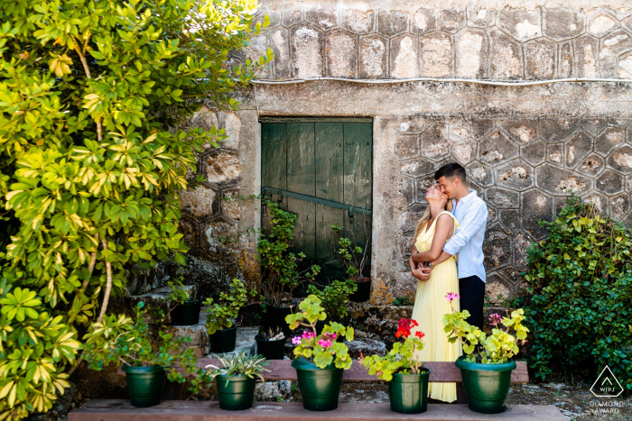 Smiles and hugs during a portrait shoot in Zakynthos, Greece