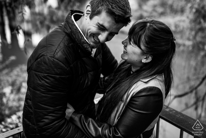 Funny moments during engagement session in Ljubljana, Slovenia