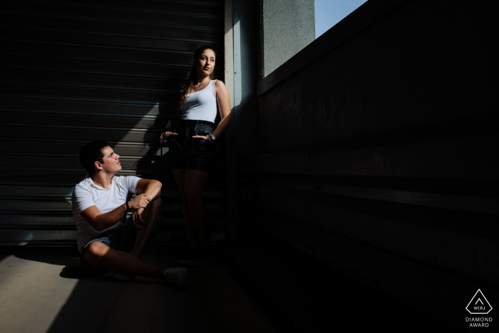 Sofia, Bulgaria	photoshoot - Framing the couple in the light