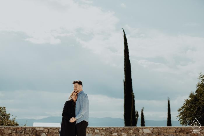 Portrait de couple à Mirmande, France