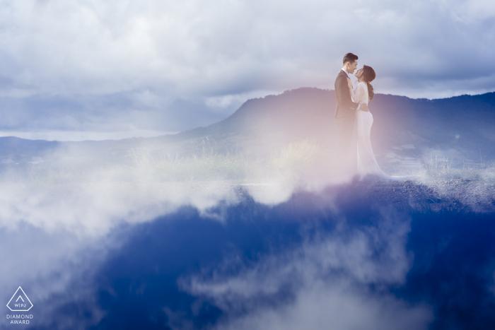 Da Lat city, Vietnam portraits de couple dans un lieu romantique avec amour romantique