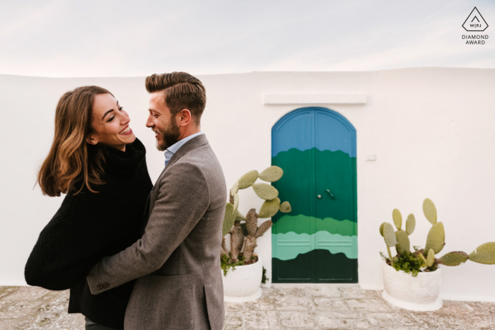 Puglia pre wedding portrait session