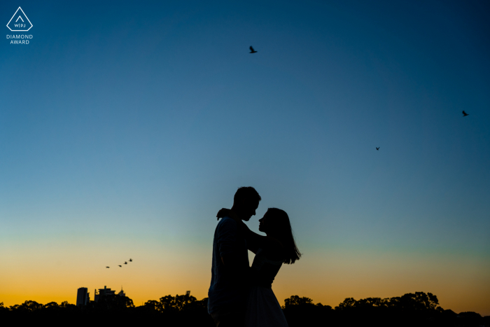 Perth Pre Wedding Photoshoot in a Fine Art Style for a couple having An amazing sunset together