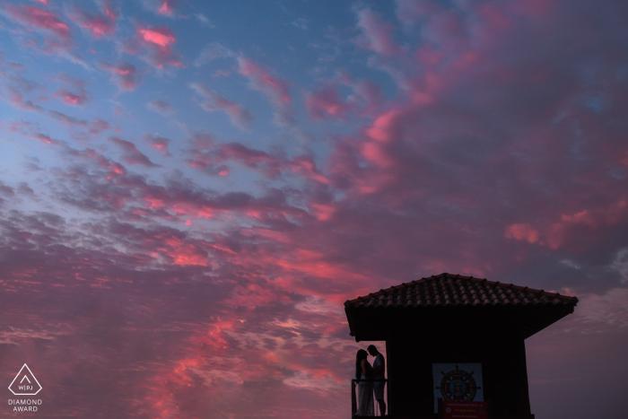Prainha Fine Art Engagement Image showing the particular dawn