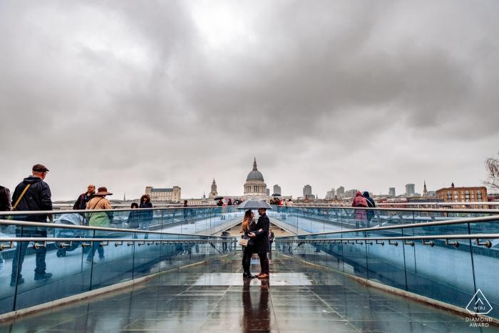 London, UK Fine Art Engagement Session from Under the Millennium Bridge