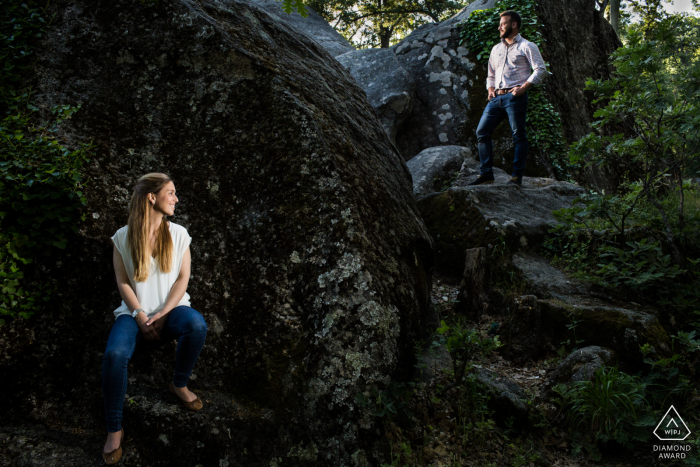 El Escorial, Madrid Artful Engagement Picture with 2 flashes to rock a double portrait