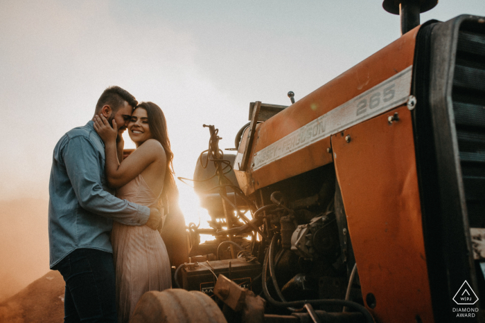 Assis Chateaubriand environmental engagement e-session with a tractor at a farm