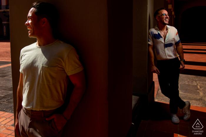 Cuartel Ballaja, San Juan engagement shoot with a Mix of Natural light and Flash