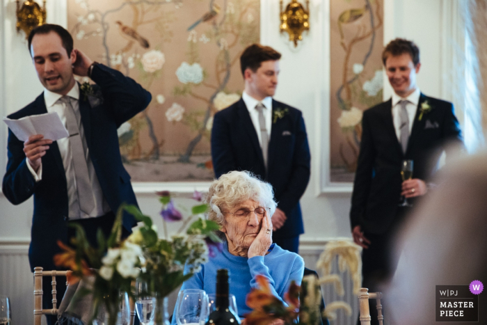 It's wedding speech time at this reception at The George in Rye, UK