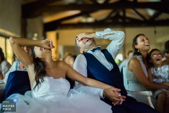 Emociones y risas durante la boda en Brescia.