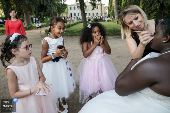 Make up moments at the wedding in Montpellier, France