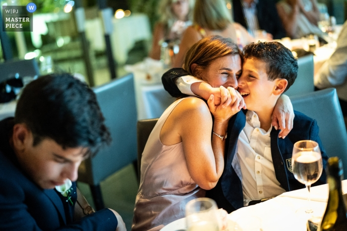 Fredericks London wedding reception photograph from the tables