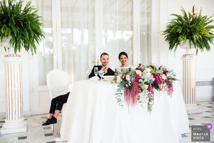Grand hotel victoria | A curious moment of the wedding on this Italian-south african couple was when the little groom's nephew fall asleep during speeches just close to his uncle
