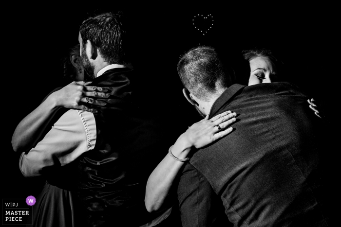Hesse wedding photojournalism image of Germany couples hugging