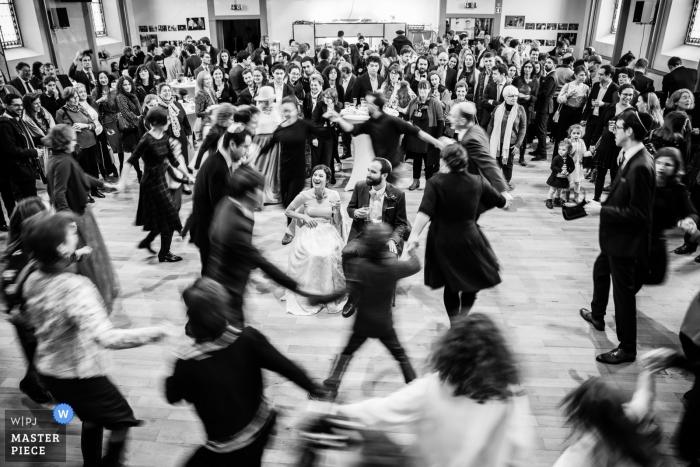 La Chaux-de-Fonds, Switzerland - jewish wedding traditions on the dance floor in switzerland