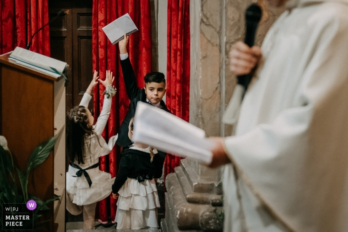 San Giovanni Battista ( Giulianello LT) - Wedding Photo of the Games of Papers for the Kids