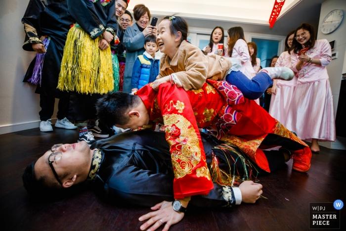 Xijihotel Hangzhou China - Photo of Wedding Games for the groomsmen.