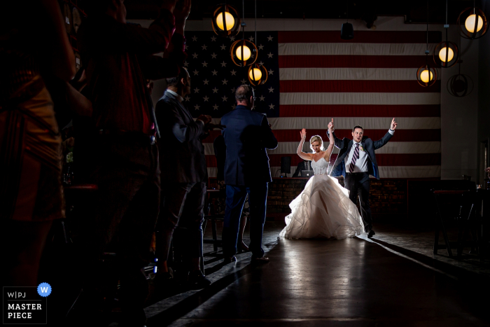 Chicago - Revolution Brewing Wedding Venue Photos -  Award winning image of the couple's introduction