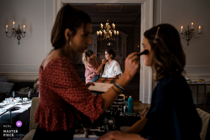Vancouver Club, BC Wedding Photographer - Image of the bride getting her makeup done