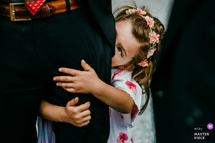 Wedding Photo from Chateau Bayard Brabant-wallon - Little girl at reception with her dad