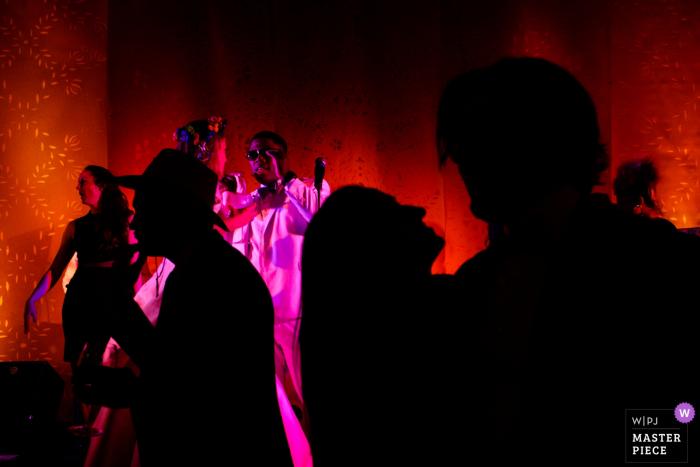 Empfangsfotografie des Monterey Peninsula Country Club bei großartiger Beleuchtung