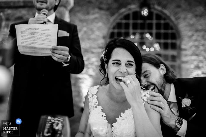 Forte da Cruz Hochzeitsfeier Fotografie der Rede von Bestman