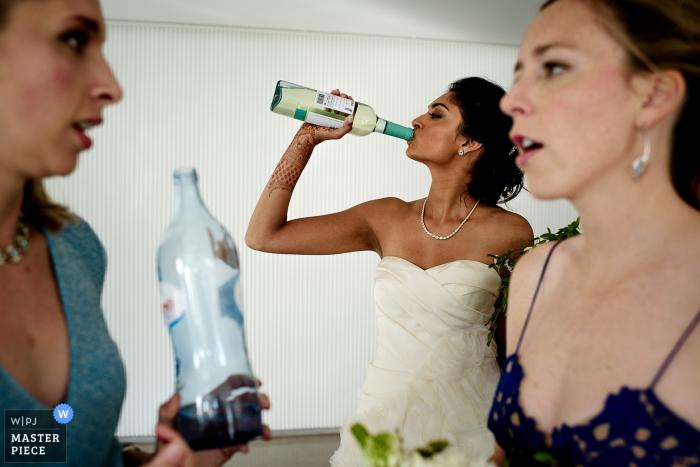 Montes Claros Wedding Photo of the Bride before the ceremony