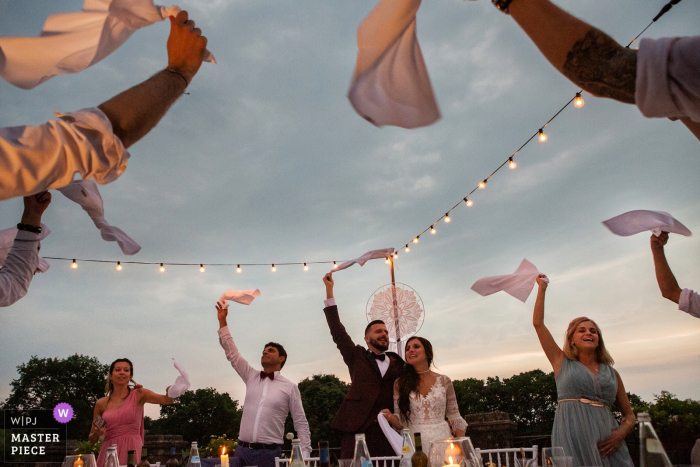 Castelvecchio - Sagrado Wedding Reception Photography - A moment of happiness during the dinner