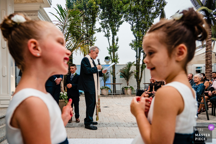 Chateau Briand Photo of Children at a Long ceremony