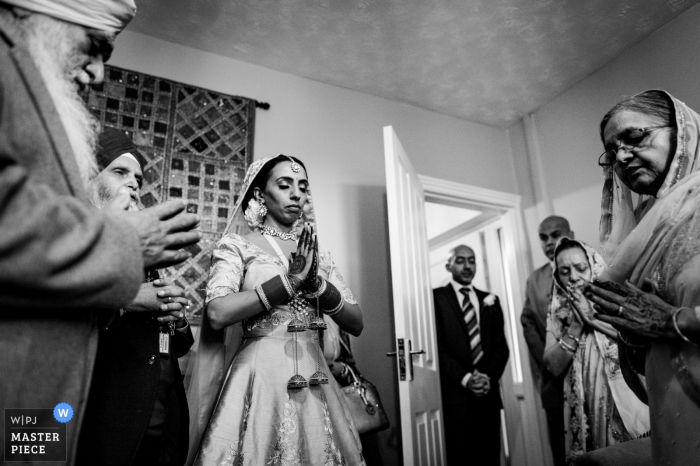 Ramada Hotel, Wolverhampton, UK Wedding photo of the Morning prayer before the ceremony