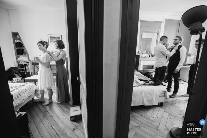 Manoir de Corny wedding venue - very close getting ready picture