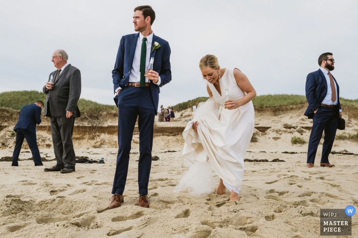 Nantucket, MA - The beach is a great place for wedding photography